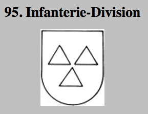 insigna of the 95 Infantry Division, German Wehrmacht Wehrmacht.
